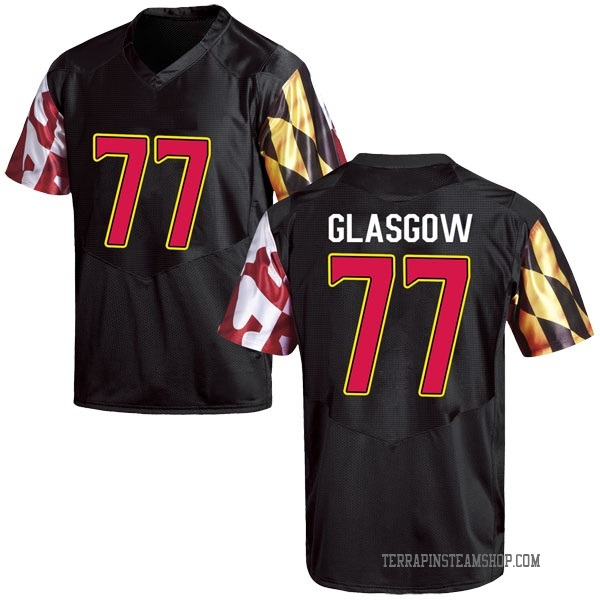 Men's Cherokee Glasgow Maryland Terrapins Under Armour Game Black Football College Jersey