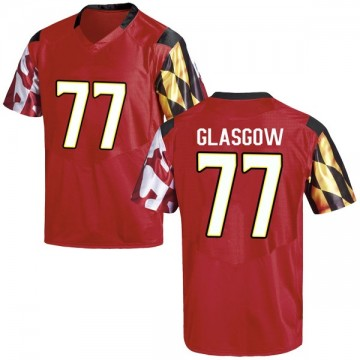 Men's Cherokee Glasgow Maryland Terrapins Under Armour Game Red Football College Jersey