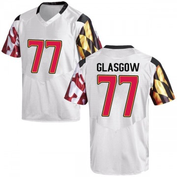 Men's Cherokee Glasgow Maryland Terrapins Under Armour Replica White Football College Jersey