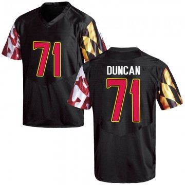 Men's Jaelyn Duncan Maryland Terrapins Under Armour Game Black Football College Jersey