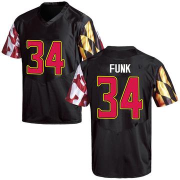 Men's Jake Funk Maryland Terrapins Game Black Football College Jersey