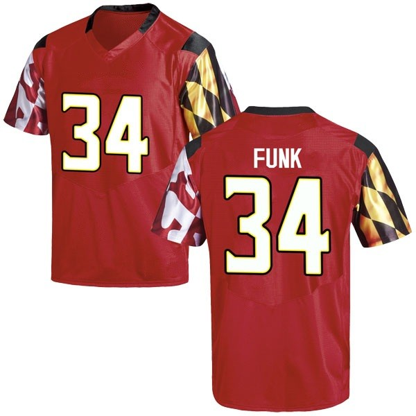 Men's Jake Funk Maryland Terrapins Under Armour Game Red Football College Jersey
