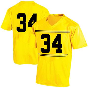 Men's Jake Funk Maryland Terrapins Replica Gold Football College Jersey