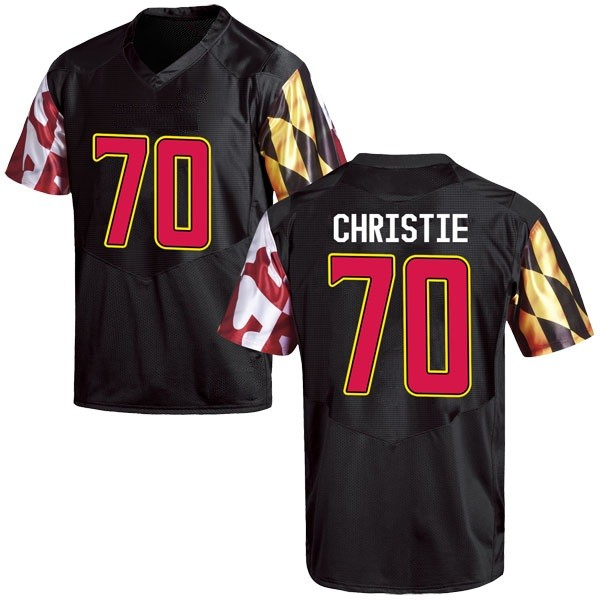 Men's Sean Christie Maryland Terrapins Under Armour Replica Black Football College Jersey