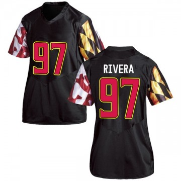 Women's Celso Rivera Maryland Terrapins Under Armour Replica Black Football College Jersey
