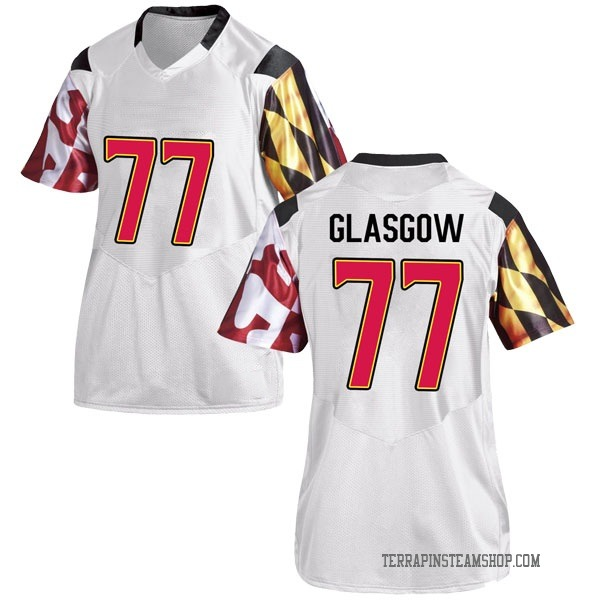 Women's Cherokee Glasgow Maryland Terrapins Under Armour Game White Football College Jersey