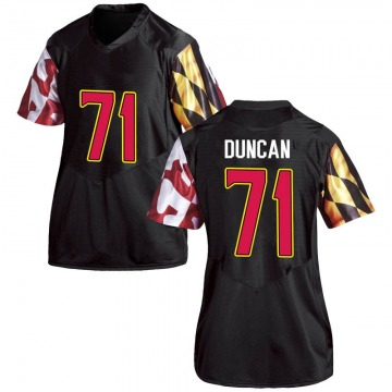 Women's Jaelyn Duncan Maryland Terrapins Under Armour Game Black Football College Jersey