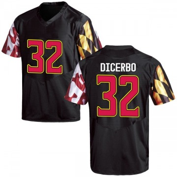 Youth Antonio Dicerbo Maryland Terrapins Game Black Football College Jersey