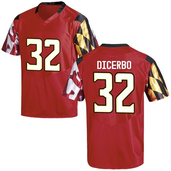 Youth Antonio Dicerbo Maryland Terrapins Under Armour Game Red Football College Jersey