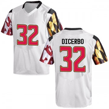 Youth Antonio Dicerbo Maryland Terrapins Under Armour Game White Football College Jersey