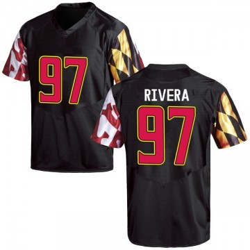 Youth Celso Rivera Maryland Terrapins Under Armour Game Black Football College Jersey