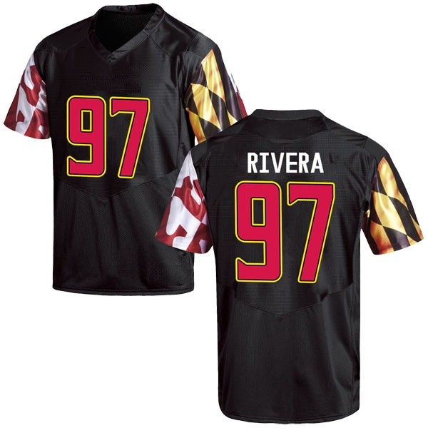 Youth Celso Rivera Maryland Terrapins Under Armour Replica Black Football College Jersey