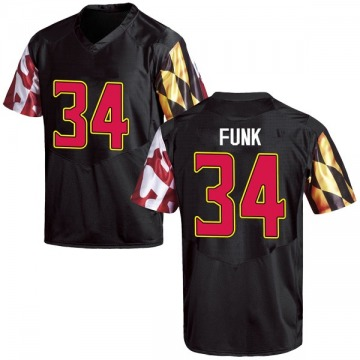 Youth Jake Funk Maryland Terrapins Replica Black Football College Jersey