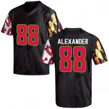 Youth Jalen Alexander Maryland Terrapins Game Black Football College Jersey