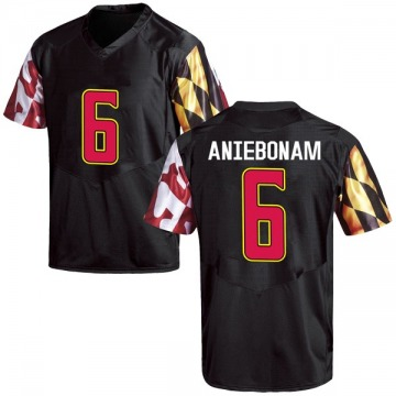 Youth Jesse Aniebonam Maryland Terrapins Under Armour Game Black Football College Jersey