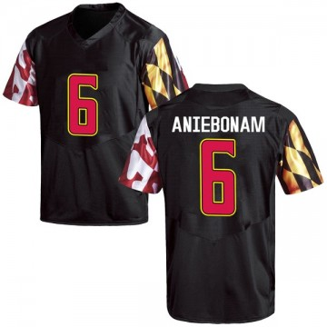 Youth Jesse Aniebonam Maryland Terrapins Under Armour Replica Black Football College Jersey